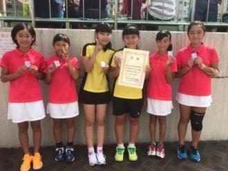 中学女子テニス部大阪私立中学校テニス選手権 第3位image00